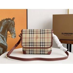 burberry英国官方网站巴宝莉代购中古vintage系列新款邮差包4453
