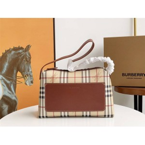 burberry英国官网巴宝莉正品代购中古战马格纹宽肩带腋下包单肩包7751