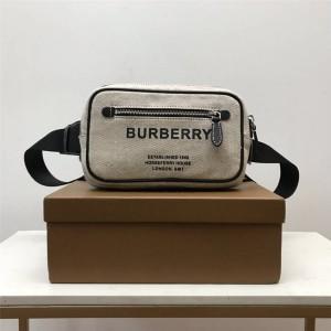 Burberry正品代购巴宝莉官方Horseferry 印花棉质帆布腰包80389021