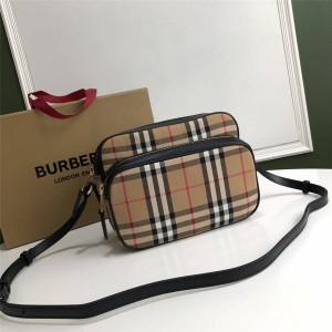 Burberry/巴宝莉官网正品中号Vintage经典格纹单肩相机包80193771