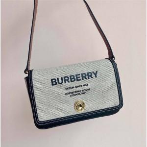 Burberry巴宝莉中国官网正品Horseferry 印花帆布拼牛皮斜背包80418331