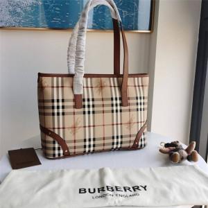 Burberry官网代购巴宝莉的包包中古款拉链托特购物袋手提包