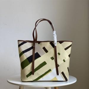 Burberry/巴宝莉官网博柏利北京专卖店经典款大格子帆布托特购物袋