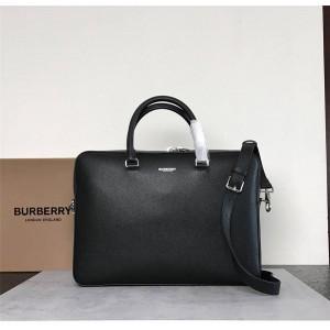 Burberry巴宝莉官网博柏利包包图片及价格粒纹皮革公文包80142651