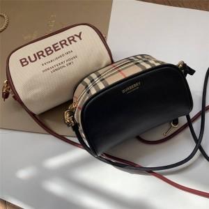 Burberry/巴宝莉官网天猫博柏利女包Cube 斜背半立方包80367381/80367301