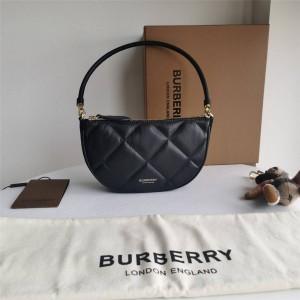 Burberry巴宝莉正品官网代购Olympia 绗缝羔羊皮埃伦匹亚收纳袋80367441