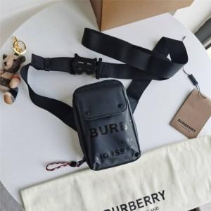 Burberry巴宝莉正品博柏利官方旗舰店Horseferry 印花涂层帆布斜挎包80366381